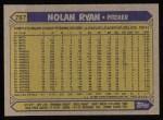 1987 Topps #757  Nolan Ryan  Back Thumbnail
