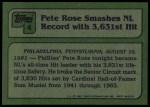1982 Topps #4   -  Pete Rose  Highlights Back Thumbnail