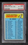 1966 Topps #444 R  Checklist 6 Front Thumbnail