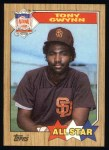 1987 Topps #599   -  Tony Gwynn All-Star Front Thumbnail