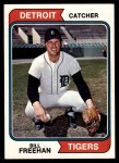 1974 Topps #162  Bill Freehan  Front Thumbnail
