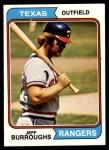 1974 Topps #223  Jeff Burroughs  Front Thumbnail