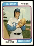 1974 Topps #348  Pete Richert  Front Thumbnail