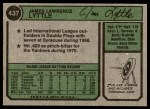 1974 Topps #437  Jim Lyttle  Back Thumbnail