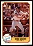 1981 Fleer #481  Kirk Gibson  Front Thumbnail