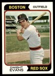 1974 Topps #351  Dwight Evans  Front Thumbnail