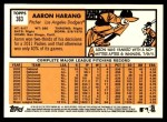 2012 Topps Heritage #363  Aaron Harang  Back Thumbnail
