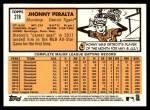 2012 Topps Heritage #278  Jhonny Peralta  Back Thumbnail