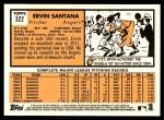2012 Topps Heritage #322  Ervin Santana  Back Thumbnail