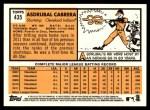 2012 Topps Heritage #435  Asdrubal Cabrera  Back Thumbnail