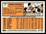 2012 Topps Heritage #22  Edwin Jackson  Back Thumbnail