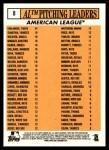 2012 Topps Heritage #8   -  Justin Verlander / C.C. Sabathia / Jered Weaver / Gio Gonzalez / Dan Haren NL Strikeout Leaders Back Thumbnail