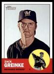 2012 Topps Heritage #320  Zack Greinke  Front Thumbnail