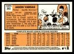 2012 Topps Heritage #383  Jason Vargas  Back Thumbnail