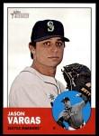 2012 Topps Heritage #383  Jason Vargas  Front Thumbnail