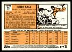 2012 Topps Heritage #35  Chris Sale  Back Thumbnail