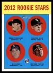 2012 Topps Heritage #253   -  Drew Pomeranz / Addison Reed / Alex Liddi / Michael Taylor Rookies Front Thumbnail