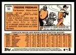 2012 Topps Heritage #53  Freddie Freeman  Back Thumbnail