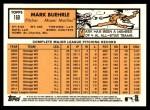 2012 Topps Heritage #160  Mark Buehrle  Back Thumbnail