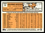 2012 Topps Heritage #339  Guillermo Moscoso  Back Thumbnail