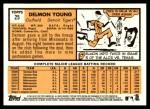 2012 Topps Heritage #25  Delmon Young  Back Thumbnail
