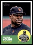 2012 Topps Heritage #25  Delmon Young  Front Thumbnail