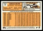 2012 Topps Heritage #356  Adrian Beltre  Back Thumbnail