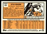 2012 Topps Heritage #466  Kyle Seager  Back Thumbnail