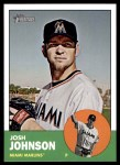 2012 Topps Heritage #496  Josh Johnson  Front Thumbnail
