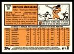 2012 Topps Heritage #291  Stephen Strasburg  Back Thumbnail