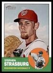 2012 Topps Heritage #291  Stephen Strasburg  Front Thumbnail