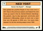 2012 Topps Heritage #23  Ned Yost  Back Thumbnail