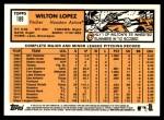2012 Topps Heritage #189  Wilton Lopez  Back Thumbnail