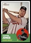 2012 Topps Heritage #347  Chipper Jones  Front Thumbnail
