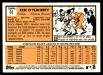 2012 Topps Heritage #62  Eric O'Flaherty  Back Thumbnail