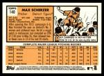 2012 Topps Heritage #140  Max Scherzer  Back Thumbnail