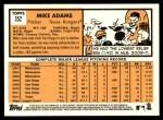 2012 Topps Heritage #352  Mike Adams  Back Thumbnail