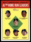 2012 Topps Heritage #4   -  Jose Bautista / Curtis Granderson / Mark Teixeira / Mark Reynolds / Adrian Beltre / Ian Kinsler NL HR Leaders Front Thumbnail