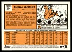 2012 Topps Heritage #344  Anibal Sanchez  Back Thumbnail