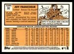 2012 Topps Heritage #282  Jeff Francoeur  Back Thumbnail