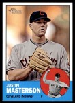 2012 Topps Heritage #14  Justin Masterson  Front Thumbnail