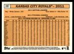 2012 Topps Heritage #397   Royals Team Back Thumbnail