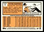 2012 Topps Heritage #64  Victor Martinez  Back Thumbnail