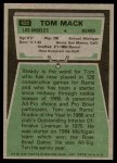 1975 Topps #420  Tom Mack  Back Thumbnail