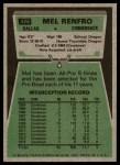1975 Topps #428  Mel Renfro  Back Thumbnail