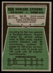 1975 Topps #434  Howard Stevens  Back Thumbnail