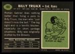 1969 Topps #103  Billy Truax  Back Thumbnail