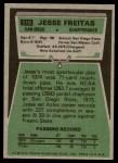 1975 Topps #518  Jesse Freitas  Back Thumbnail