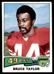1975 Topps #418  Bruce Taylor  Front Thumbnail