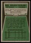 1975 Topps #418  Bruce Taylor  Back Thumbnail